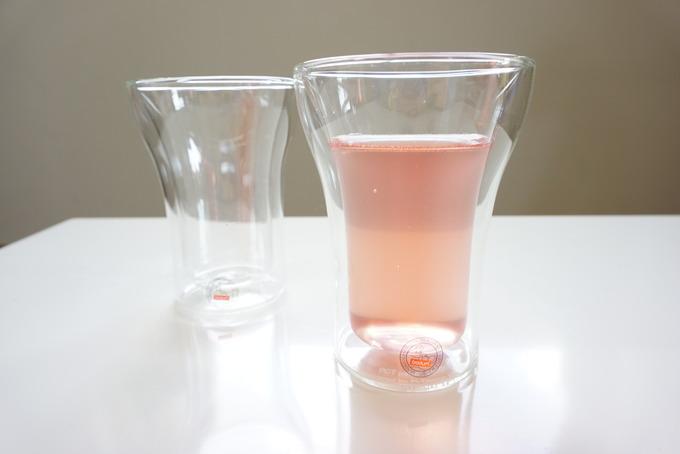 ボダムのダブルウォールグラスは熱いのと冷たいのOK