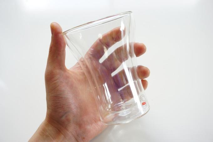 ボダムのダブルウォールグラスは持ちやすい