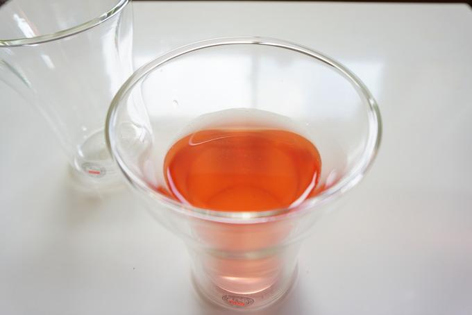 ボダムのダブルウォールグラスは熱が逃げにくい