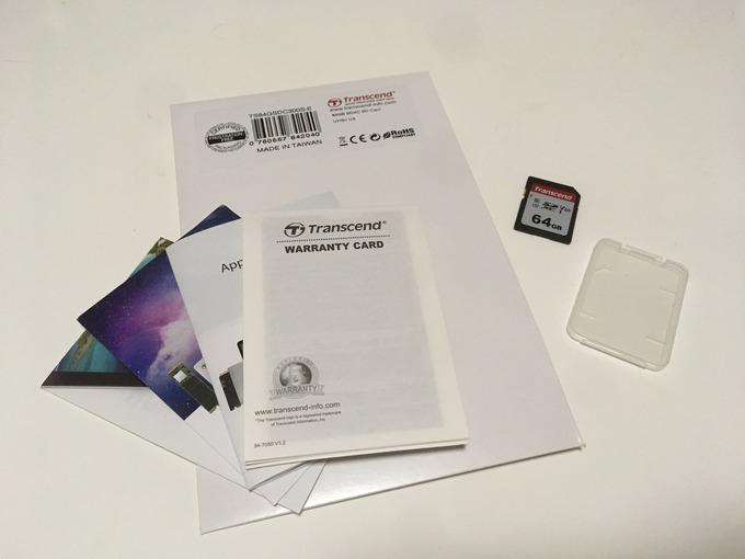 トランセンド64GB SDカードをレビュー